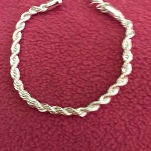 .925 Sterling Silver Rope Bracelet